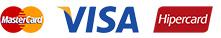 MasterCard, Visa e Hipercard