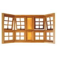 Bay Window de Madeira Quadriculada