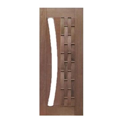 Porta Pivotante Couro Longo para Vidro em Arco