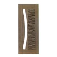 Porta Pivotante Mix para Vidro em Arco